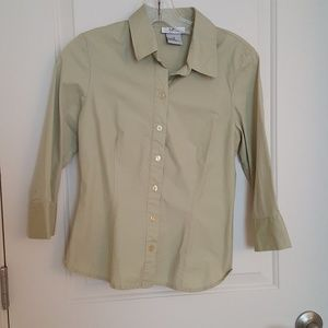M button down green cotton shirt